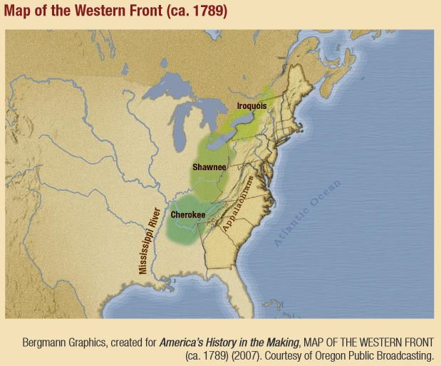 Tribal Nations on the Western Frontier, 1789 - secondary source from The New Nation
